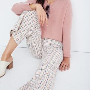 Madewell Emmett Wide Leg Crop Pants Rainbow Plaid
